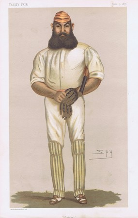 Original Vanity Fair Print 1877 W G Grace