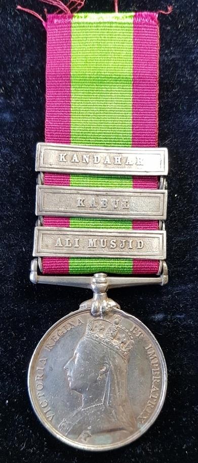 Victorian Afghanistan Medal 1881, Ali Musjid, Kabul, Kandahar clasps