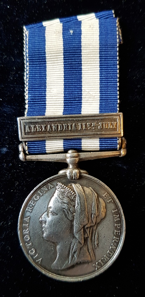 Egypt Medal 1882 with ALEXANDRIA 11th JULY Clasp