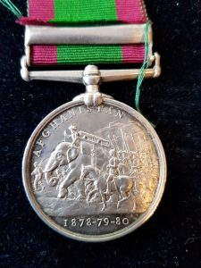 Afghanistan Medal, PEIWAR KOTAL Clasp to King's Regiment.