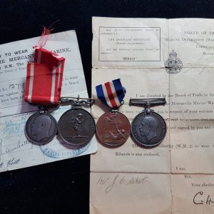 Sea Gallantry Medal, Royal Humane Society Medal, Lloyd's Medal For Saving Life At Sea