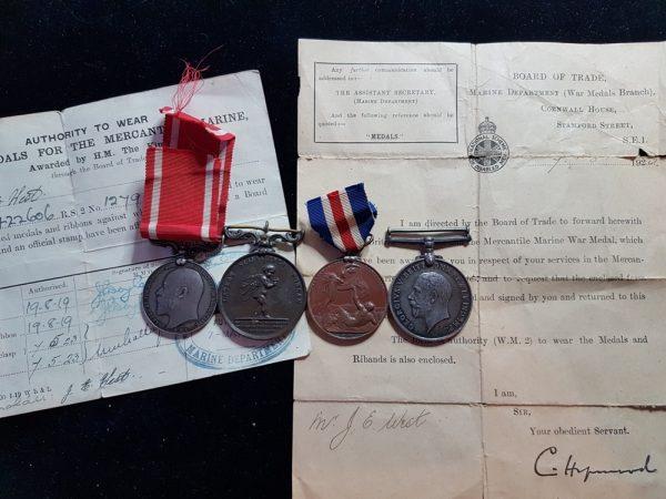 Sea Gallantry Medal, Royal Humane Society Medal, Lloyd's Medal For Saving Life At Sea