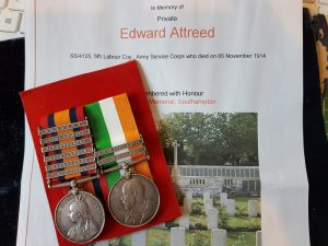 4877 PTE E. ATTREED. 1st ESSEX REGT
