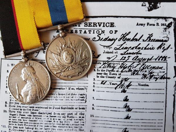 1254 PTE. S. H. FREEMAN 1st Bn LINCOLNSHIRE REGIMENT
