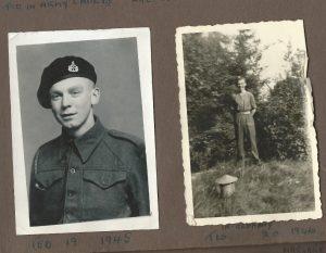 wearing a Reconnaissance Corps Cap Badge.