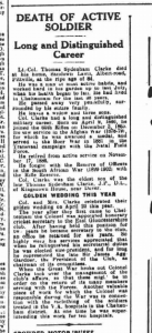 Obituary 15th November 1930