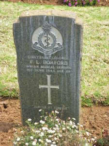 Headstone on his grave in South Africa