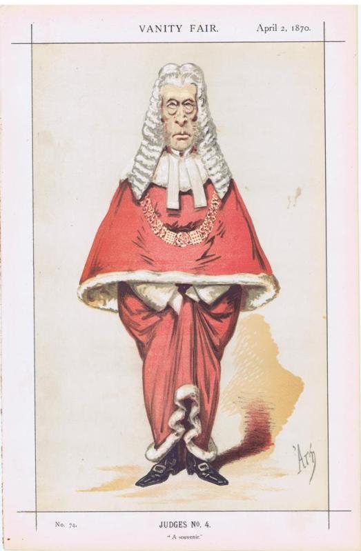 Red Robed Judge Sir Frederick Pollock