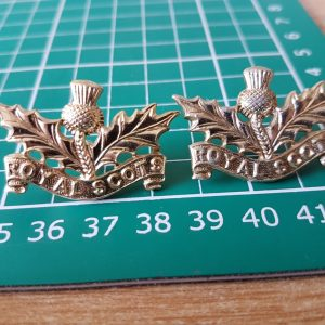 Royal Scots Collar Badges