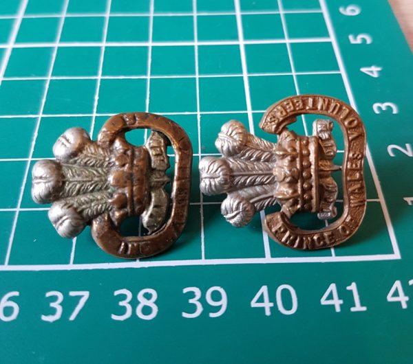 South Lancashire Regiment Collar Badges