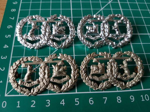 Argyll & Sutherland Highlanders Collar Badges