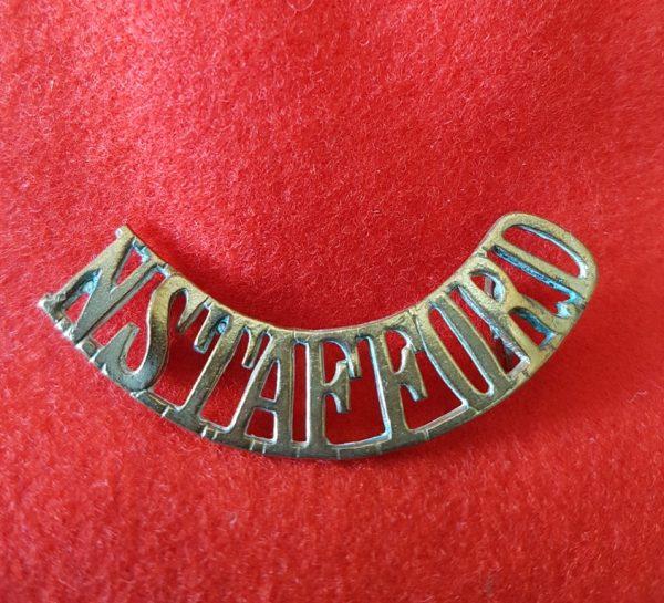 North Stafford Regiment Shoulder Title
