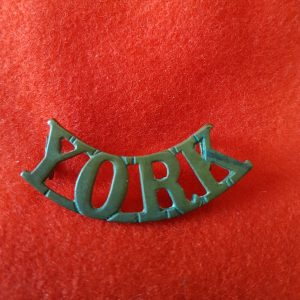 Yorkshire Regiment Shoulder Title YORK