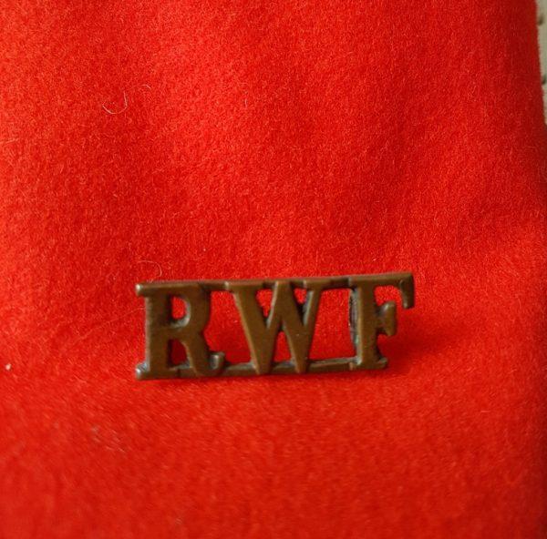 Royal Welsh Fusiliers Regiment Shoulder Title