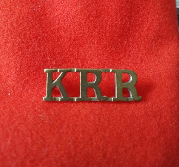 Kings Royal Rifle Corps Shoulder Title