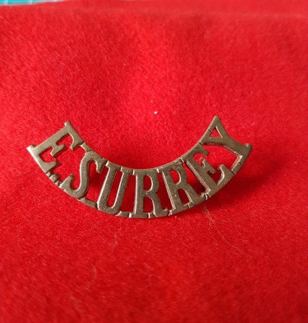 East Surrey Regiment Shoulder Title