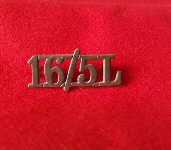 16/5th The Queen's Royal Lancers shoulder title