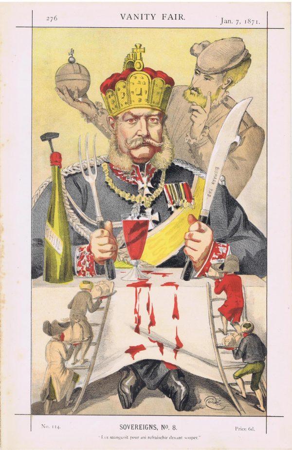 William Frederick Louis King of Russia Vanity Fair Print