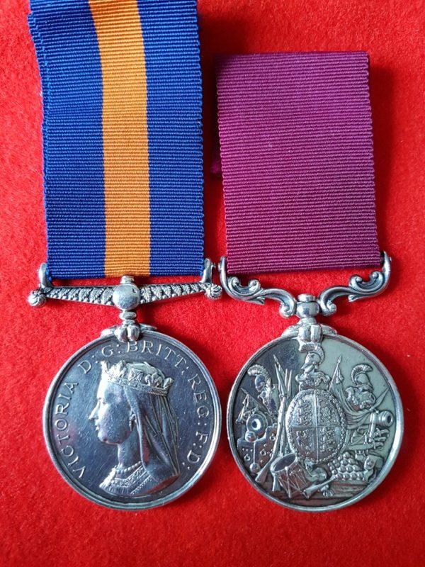 Maori Wars New Zealand Medal, LSGC Medal Pair
