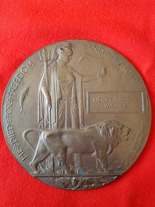 Great War Memorial Plaque