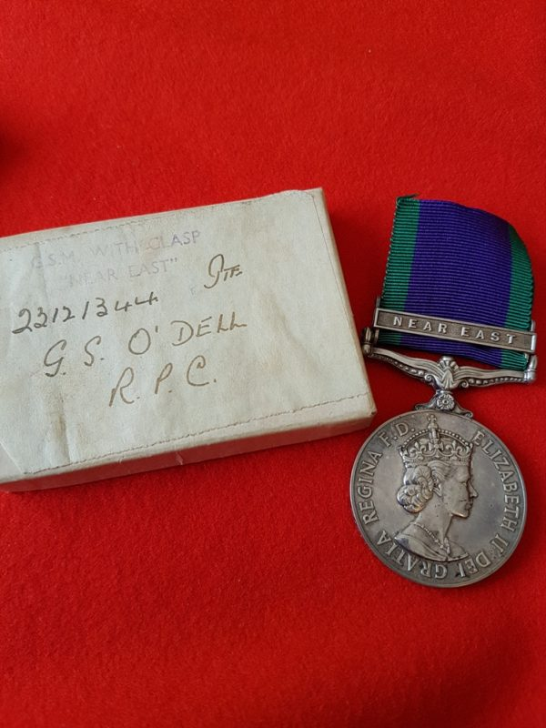General Service Medal Near East Clasp