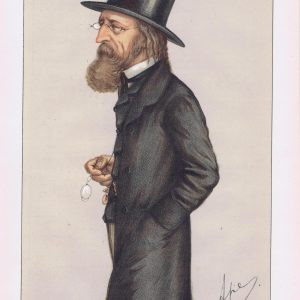 Alfred Lord Tennyson Vanity Fair Print 1871