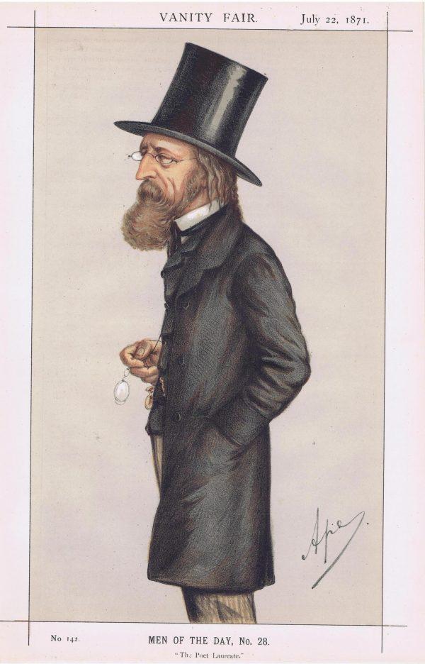 Alfred Lord Tennyson Vanity Fair Print 1871