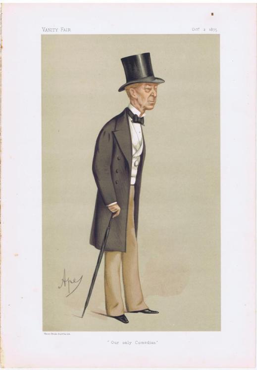 Charles James Mathews Vanity Fair Print 1875