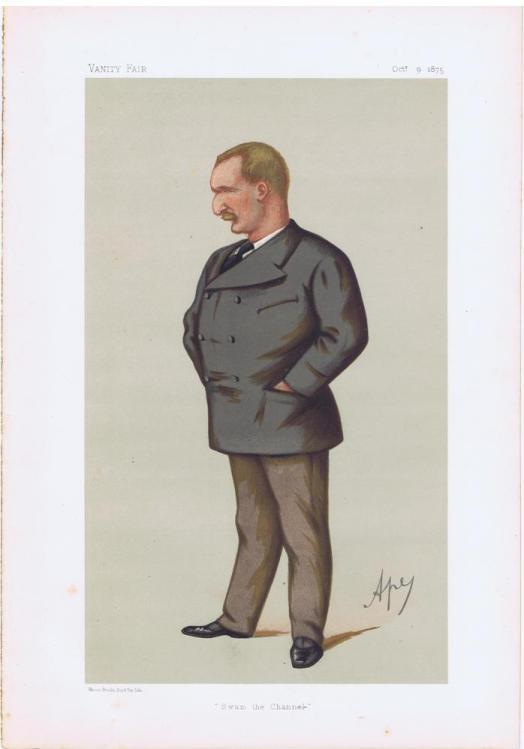 Matthew Webb Vanity Fair Print 1875