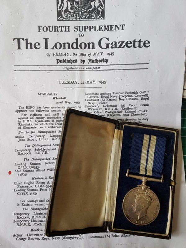 U-Boat killer Distinguished Service Medal Group HMS Nyasaland