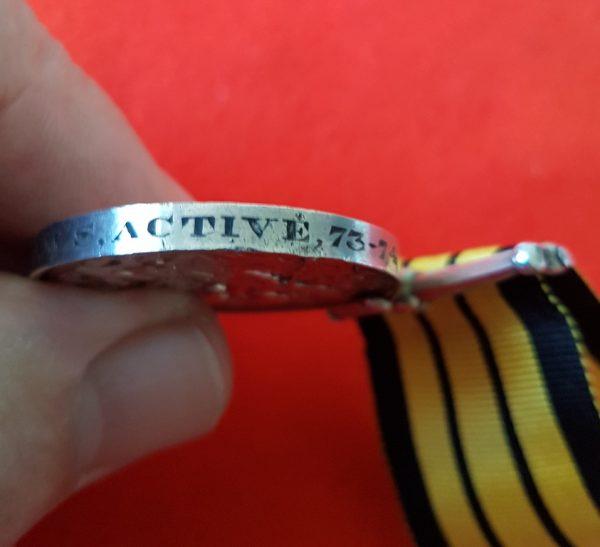ASHANTEE MEDAL ROYAL NAVY HMS ACTIVE