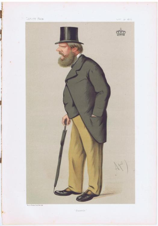 Prince Edward Of Saxe-Weimar Vanity Fair Print 1875