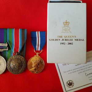 Royal Welsh Fusiliers Modern Medal Group