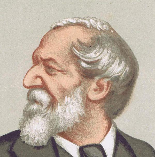 Robert Browning Vanity Fair Print 1875