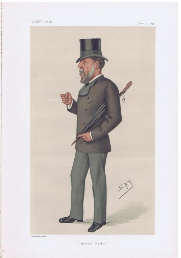 Admiral Hobart Pasha Original Vanity Fair Print