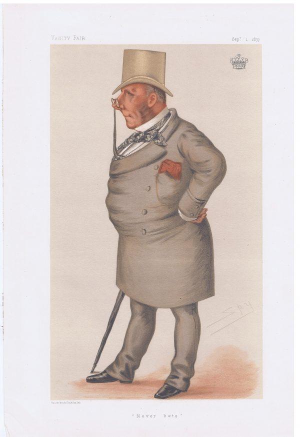 Viscount Falmouth Original Vanity Fair Print