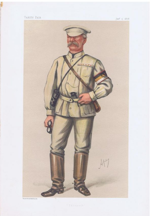 War Correspondent Archibald Forbes Vanity Fair Print