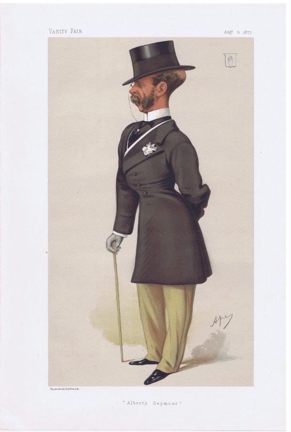 Sir Francis Seymour Original Vanity Fair Print