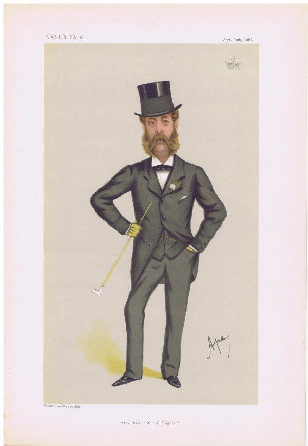 Henry Paget Original Vanity Fair Print