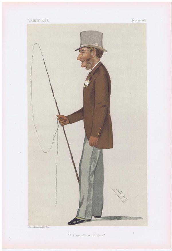 Lord Aveland Original Vanity Fair Print