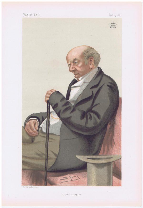 Judge Colin Blackburn Original Vanity Fair Print