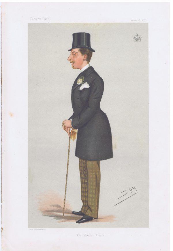 Prince Leopold Original Vanity Fair Print
