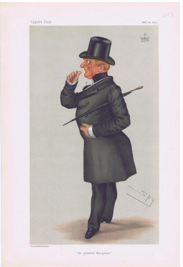 John Paulet 14th Marquess of Winchester Vanity Fair Print