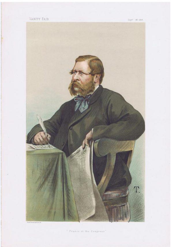 William Henry Waddington Original Vanity Fair Print