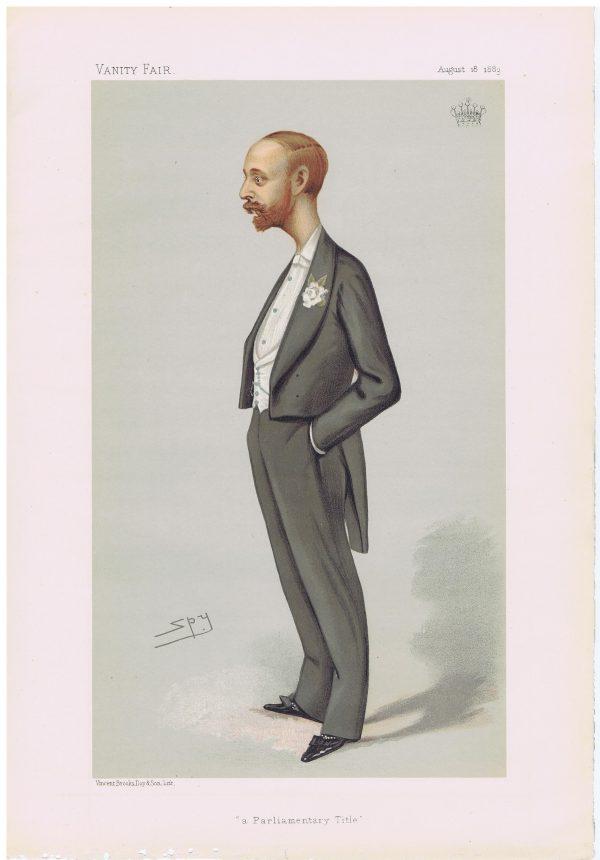 The Earl Of Onslow Original Vanity Fair Print