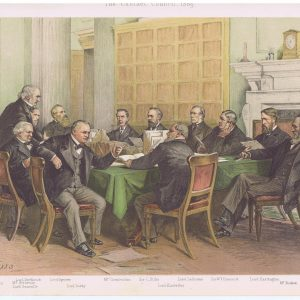 The Gladstone Cabinet Council Vanity Fair Print