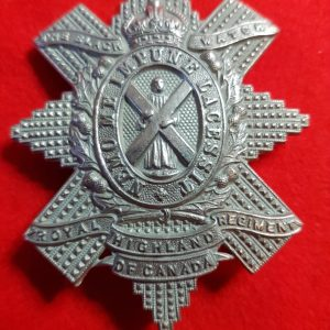 Royal Highland Regiment of Canada Black Watch Cap Badge