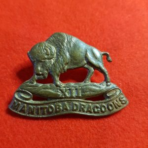 12th MANITOBA DRAGOONS CAP BADGE