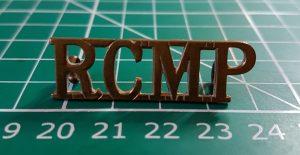 R.C.M.P. Shoulder Title
