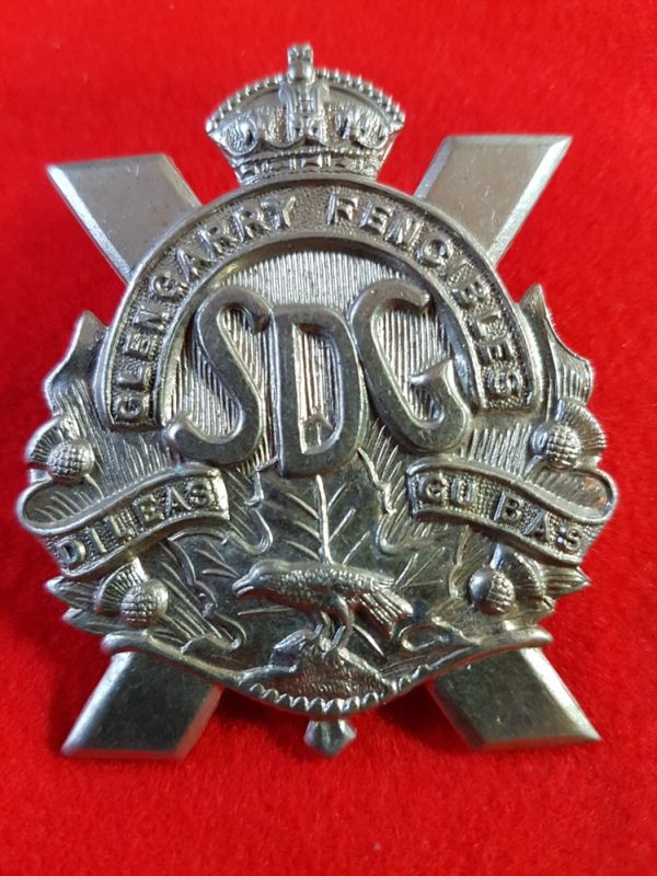 Canadian Glengarry Fencibles Cap Badge